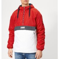 Tommy Jeans Men's Colorblock Popover Hoody - Samba - M - Red