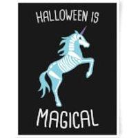 Unicorn Skeleton Art Print - A2 - No Hanger