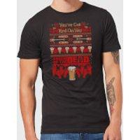 Shaun Of The Dead You've Got Red On You Christmas Men's T-Shirt - Black - S - Black