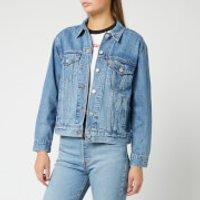 Levi's Women's Ex-Boyfriend Trucker Jacket - Soft As Butter - S - Blue