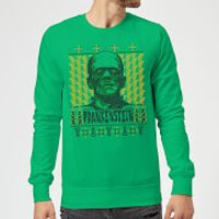 Universal Monsters Frankenstein Christmas Sweatshirt - Kelly Green - XXL - Kelly Green