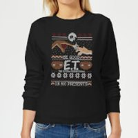 E.T. the Extra-Terrestrial Be Good or No Presents Women's Sweatshirt - Black - 5XL - Black - Presents Gifts
