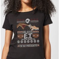 E.T. the Extra-Terrestrial Be Good or No Presents Women's T-Shirt - Black - 5XL - Black - Presents Gifts
