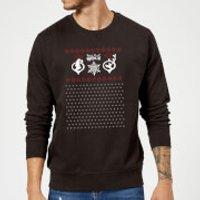 The Grinch Pattern Christmas Sweatshirt - Black - XXL - Black