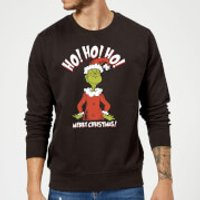The Grinch Ho Ho Ho Smile Christmas Sweatshirt - Black - XXL - Black