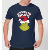The Grinch Im Here for The Presents Mens Christmas T-Shirt - Navy - L - Navy