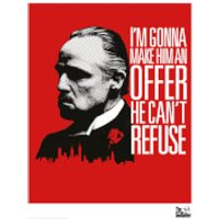 The Godfather Limited Edition Art Print - Red - The Godfather Gifts