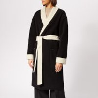 Alexander Wang Doubleface Robe With Logo - Black