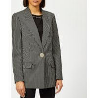 Alexander Wang Oversized Blazer With Leather Sleeves - Black