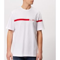 Jack Wills Men's Budden Stripe Logo T-Shirt - White - S - White