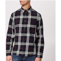 Jack Wills Men's Langworth Heavy Weight Flannel Shirt - Navy - S - Blue