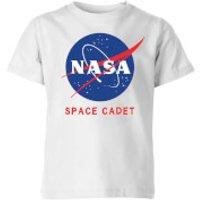 NASA Space Cadets Logo Kids' T-Shirt - White - 5-6 Years - White
