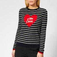 Whistles Women's Mon Coeur Heart Stripe Knit Jumper - Multicolour - UK 8 - Multi