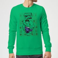 Marvel Avengers Hulk Christmas Sweatshirt - Kelly Green - M - Kelly Green