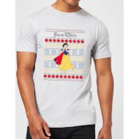 Disney Classic Snow White Men's Christmas T-Shirt - Grey - XXL - Grey