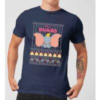 Disney Classic Dumbo Men's Christmas T-Shirt - Navy - XXL - Navy