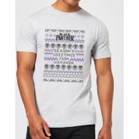Marvel Avengers Season's Greetings From Wakanda Men's Christmas T-Shirt - Grey - L - Grey