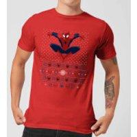 Marvel Avengers Spider-Man Men's Christmas T-Shirt - Red - M - Red