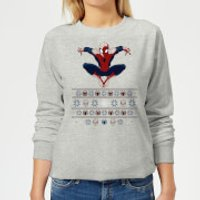 Marvel Avengers Spider-Man Women's Christmas Sweatshirt - Grey - XS - Grey