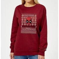 Marvel Deadpool Women's Christmas Sweatshirt - Burgundy - XXL - Burgundy