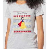 Disney Classic Snow White Women's Christmas T-Shirt - Grey - XXL - Grey