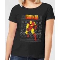Marvel Avengers Classic Iron Man Women's Christmas T-Shirt - Black - XL - Black