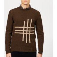 Oliver Spencer Men's Blenheim Crew Knit Jumper - Tambrook Chocolate - XL - Brown