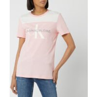 Calvin Klein Jeans Women's Monogram Soft Blocking T-Shirt - Strawberry Cream - S - Pink