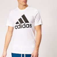 adidas Men's Must Haves Badge of Sport Short Sleeve T-Shirt - White/Black - S - White