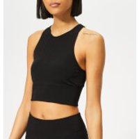 adidas Womens Warp Knitted Crop Top - M - Black