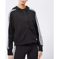 adidas Women's Must Haves 3 Stripes Full Zip Hoody - Black - XS - Black