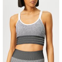 adidas Women's All Me Seamless Bra - Black/White - M - Black/White