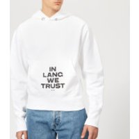 Helmut Lang Men's Standard Hoody with Print - Chalk White - XL - White