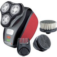 Remington XR1410 Flex360 Rotary Electric Shaver and Groom Kit - Red/Black - Accessories Gifts