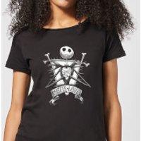 Nightmare Before Christmas Jack Skellington Misfit Love Women's T-Shirt - Black - M - Black