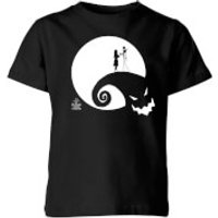 The Nightmare Before Christmas Jack and Sally Moon Kids' T-Shirt - Black - 9-10 Years - Black