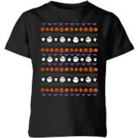 The Nightmare Before Christmas Jack Pumpkin Faces Kids' T-Shirt - Black - 5-6 Years - Black