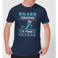 Rick and Morty Mr Meeseeks Pain Men's Christmas T-Shirt - Navy - L - Navy