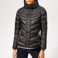 Barbour International Womens Camier Quilted Coat - Black - UK 10 - Black
