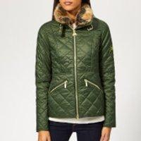Barbour International Women's Corner Quilted Coat - Moss Green - UK 10 - Green