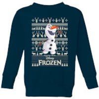 Disney Frozen Olaf Kids Christmas Sweatshirt - Navy - 7-8 Years - Navy