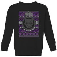 Marvel Avengers Black Panther Kids Christmas Sweatshirt - Black - 7-8 Years - Black