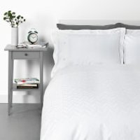 in homeware Broken Chevron Duvet Set - Waffle - Single