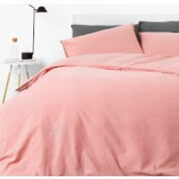 in homeware Washed Cotton Duvet Set - Blush - Double (China)