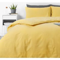 in homeware Washed Cotton Duvet Set - Yellow - Single (China)