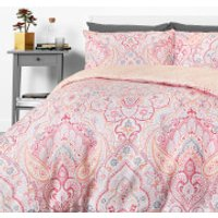 in homeware Duvet Set - Pretty Paisley - Single - Pink