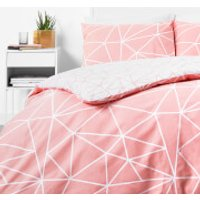 in homeware Duvet Set - Blush Geo - Single - Pink