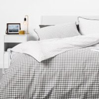 in homeware Duvet Set - Ombre Gingham - Double - Grey