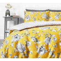 in homeware Sophie Floral Duvet Set - Yellow - Super King