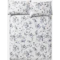 in homeware Sophie Floral Duvet Set - Nude - Single